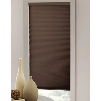 Cordless Cappuccino Cellular Shade Blind Size: 27 W x 64 L