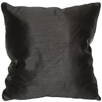 Kiera Square Throw Pillow Color: Black