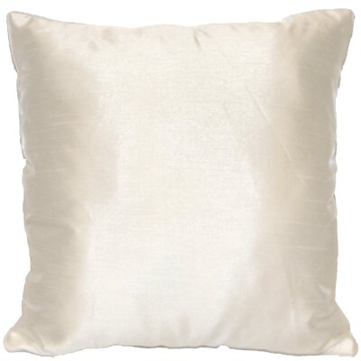 Kiera Square Throw Pillow Color: White