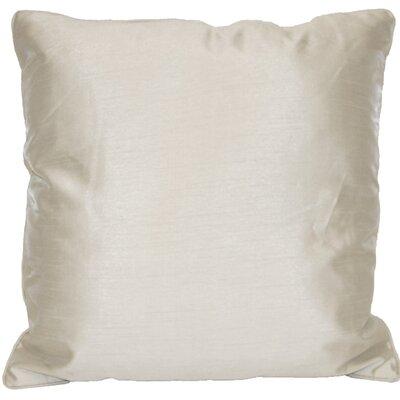 Kiera Square Throw Pillow Color: Silver