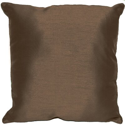 Kiera Square Throw Pillow Color: Chocolate
