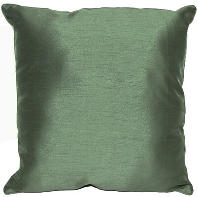 Kiera Square Throw Pillow Color: Forest Green
