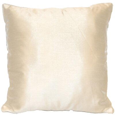 Kiera Square Throw Pillow Color: Ivory