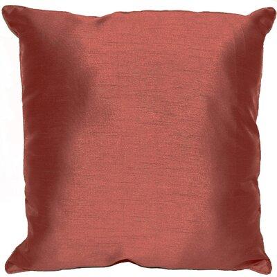 Kiera Square Throw Pillow Color: Brick