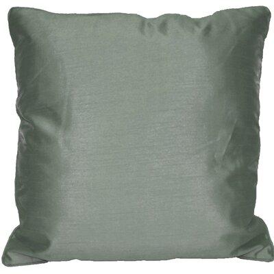 Kiera Square Throw Pillow Color: Steel Gray