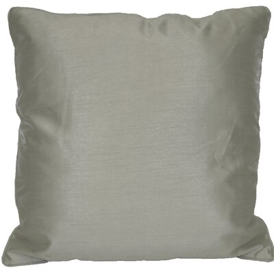 Kiera Square Throw Pillow Color: Metallic Gray