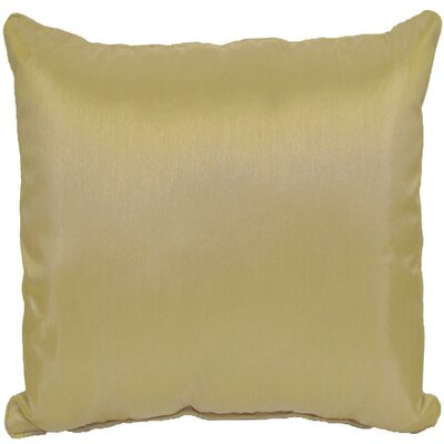 Kiera Square Throw Pillow Color: Gold