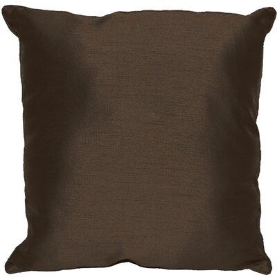 Kiera Square Throw Pillow Color: Dark Chocolate