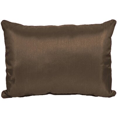 Kiera Lumbar Throw Pillow Color: Chocolate