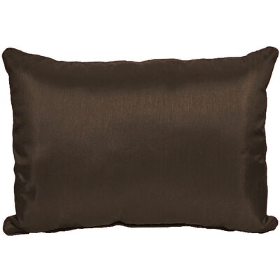 Kiera Throw Pillow Color: Dark Chocolate