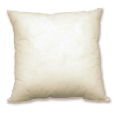 Aguon Solid Microfiber Pillow Insert Size: 20 x 20, Color: Egret White