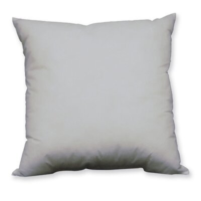 Aguon Solid Microfiber Pillow Insert Size: 20 x 20, Color: Gray