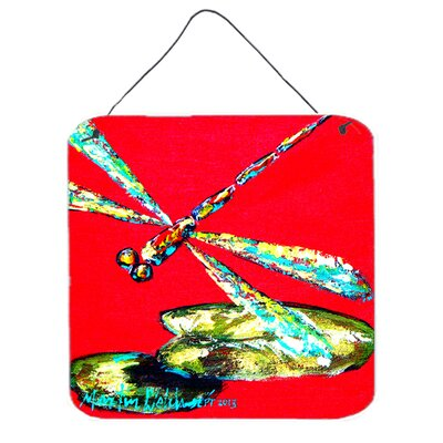 Insect Dragonfly Shoo-Fly Aluminum Hanging by Martin Welch Painting Print Plaque