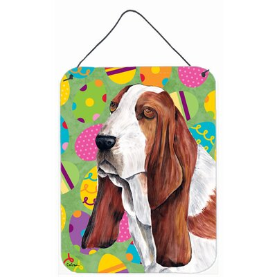 Basset Hound Easter Eggtravaganza Painting Print Plaque