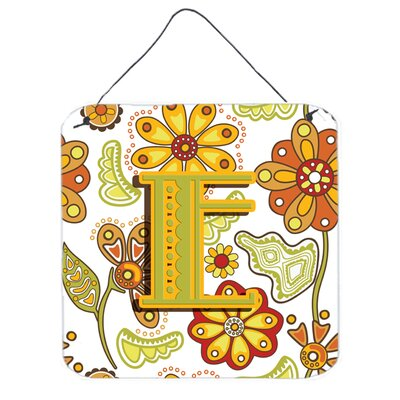Floral by Denny Knight Graphic Art Plaque Letter: E