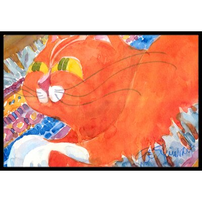 Cat Doormat Rug Size: 2 x 3