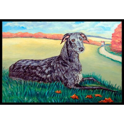 Scottish Deerhound Doormat Rug Size: Rectangle 2 x 3