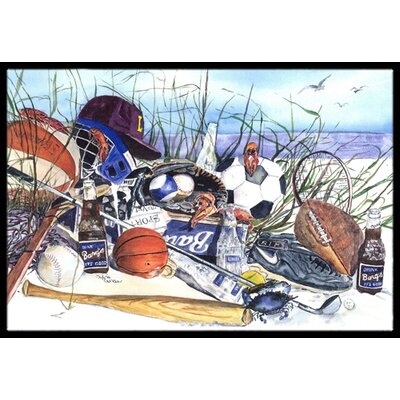 Sports on the Beach Doormat Mat Size: Rectangle 2 x 3