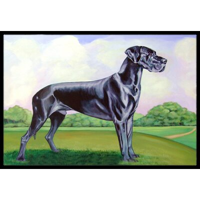Great Dane Doormat Rug Size: Rectangle 16 x 2 3