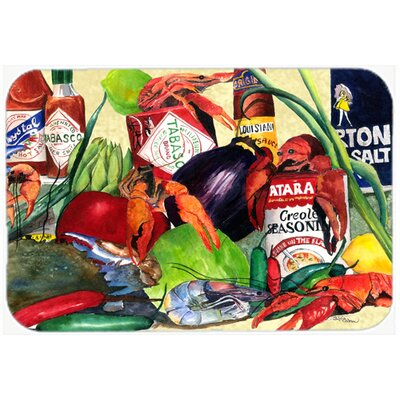 Spices and Crawfish Kitchen/Bath Mat Size: 24 H x 36 W x 0.25 D