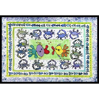 Fish Kissing Fish Doormat Mat Size: Rectangle 2 x 3