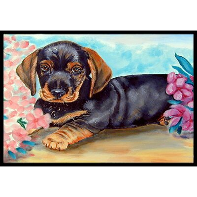 Dachshund Doormat Rug Size: Rectangle 2 x 3