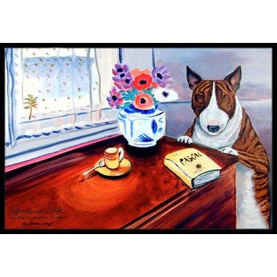 Bull Terrier Doormat Rug Size: 2 x 3