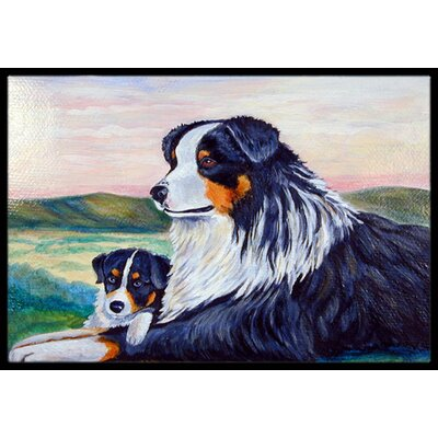 Australian Shepherd Doormat Rug Size: Rectangle 16 x 2 3