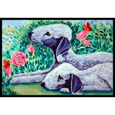 Bedlington Terrier Doormat Mat Size: 2 x 3