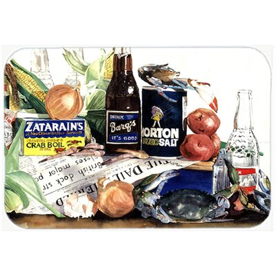 Barqs, Crabs, and Spices Kitchen/Bath Mat Size: 20 H x 30 W x 0.25 D