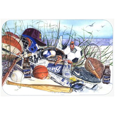 Sports on The Beach Kitchen/Bath Mat Size: 24 H x 36 W x 0.25 D
