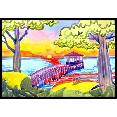 Dock at the Pier Doormat Mat Size: Rectangle 16 x 2 3