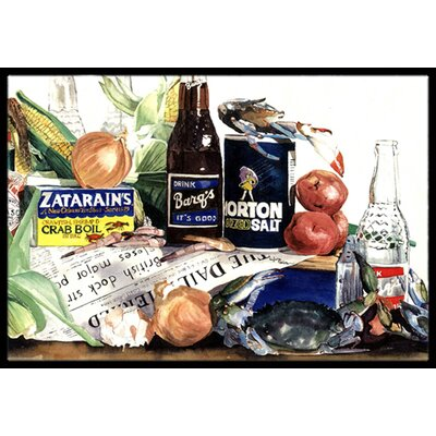 Barqs, Crabs and Spices Doormat Mat Size: Rectangle 16 x 2 3