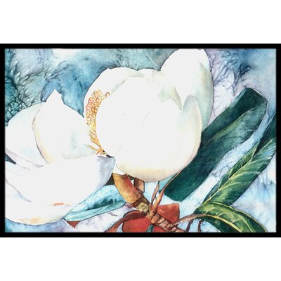Flower Magnolia Doormat Mat Size: Rectangle 2 x 3