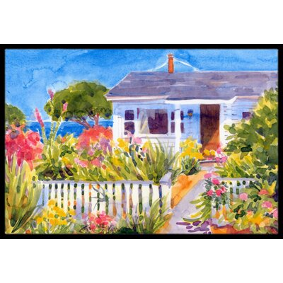 Seaside Beach Cottage Doormat Rug Size: 16 x 2 3