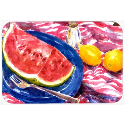 Watermelon Kitchen/Bath Mat Size: 24 H x 36 W x 0.25 D