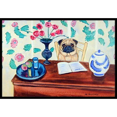 Pug Doormat Rug Size: Rectangle 2 x 3