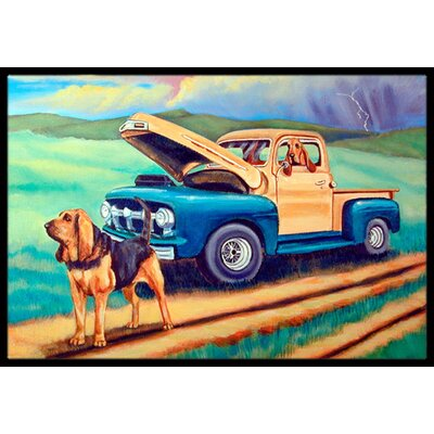 Bloodhound Doormat Mat Size: Rectangle 2 x 3