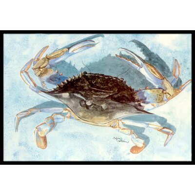 Crab Doormat Rug Size: 2 x 3