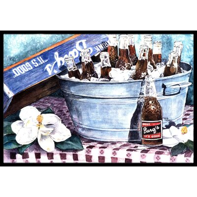 Barqs and Old Washtub Doormat Rug Size: Rectangle 2 x 3