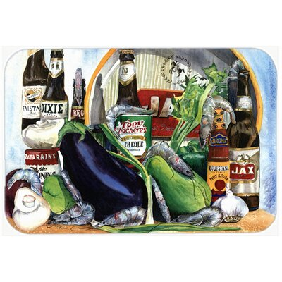 Eggplant and New Orleans Beers Kitchen/Bath Mat Size: 24 H x 36 W x 0.25 D