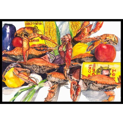 Verons and Crabs Doormat Mat Size: Rectangle 2 x 3