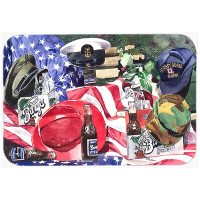 Barqs and Armed Forces Kitchen/Bath Mat Size: 24 H x 36 W x 0.25 D