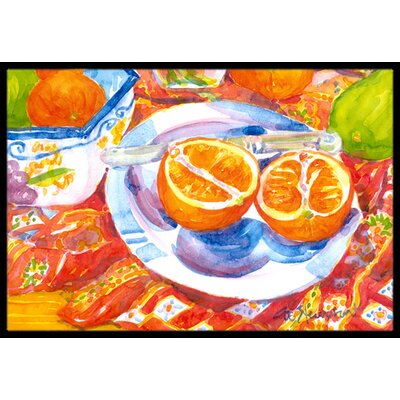 Florida Sliced for Breakfast Doormat Rug Size: 16 x 2 3
