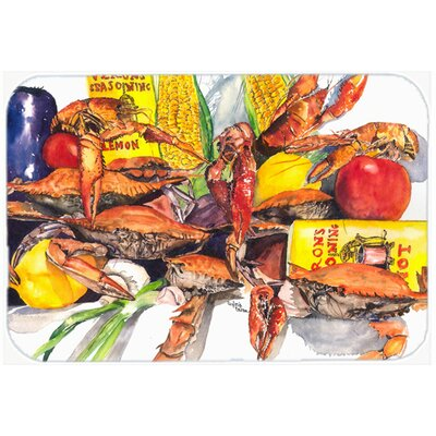 Verons and Crabs Kitchen/Bath Mat Size: 24 H x 36 W x 0.25 D