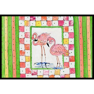 Flamingo Doormat Mat Size: Rectangle 16 x 2 3