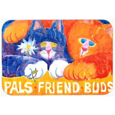 Cats Pals Friends Buds Kitchen/Bath Mat Size: 24 H x 36 W x 0.25 D