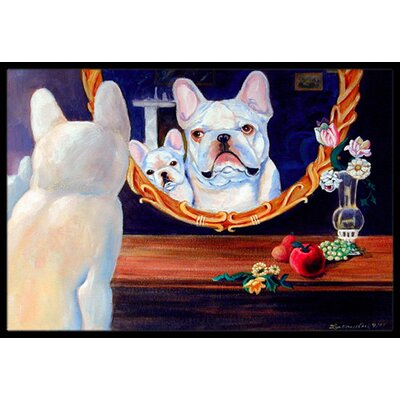 French Bulldog Doormat Mat Size: Rectangle 2 x 3