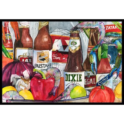 New Orleans Beers and Spices Doormat Mat Size: Rectangle 2 x 3
