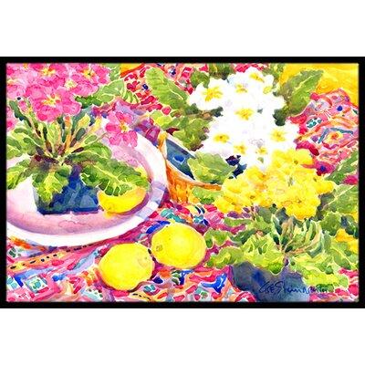 Primroses Flower Doormat Rug Size: 16 x 2 3